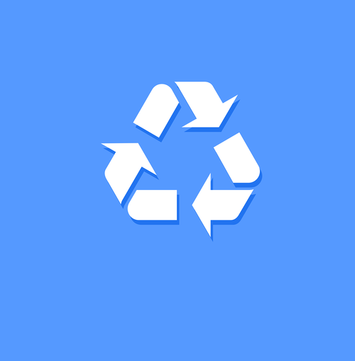 recycle  recycle icon  icon blue