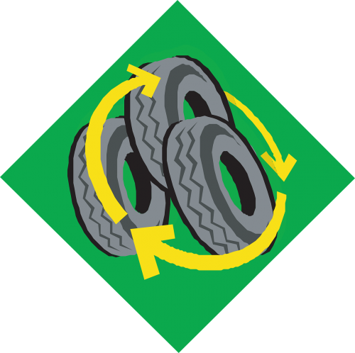 recycle car tyres