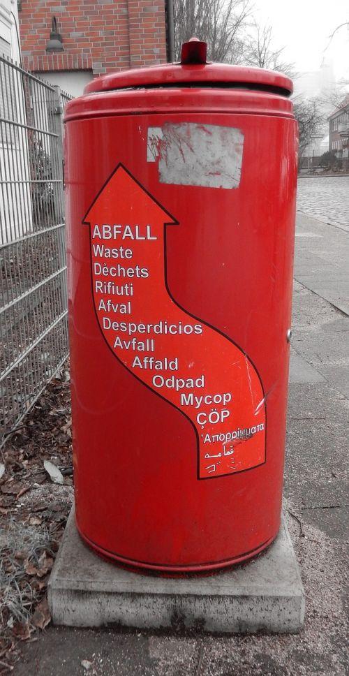 recycle bin waste bins red
