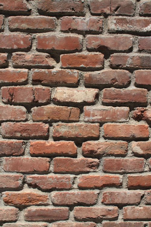 Recycled Red Brick Wall