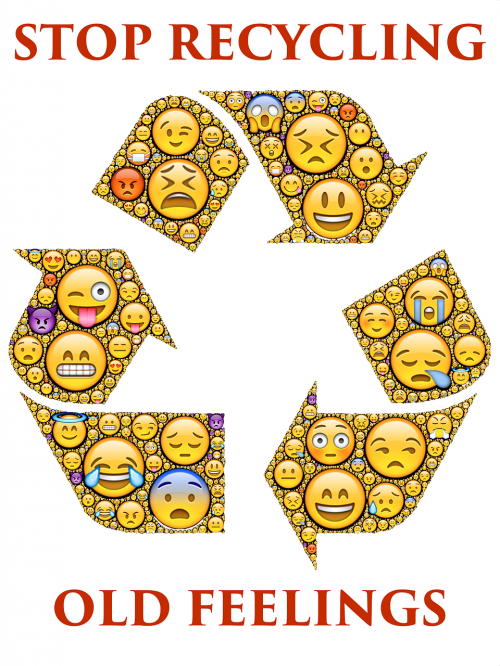 recycling old feelings emoticons