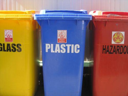 recycling bins 3 refuse bins yellow