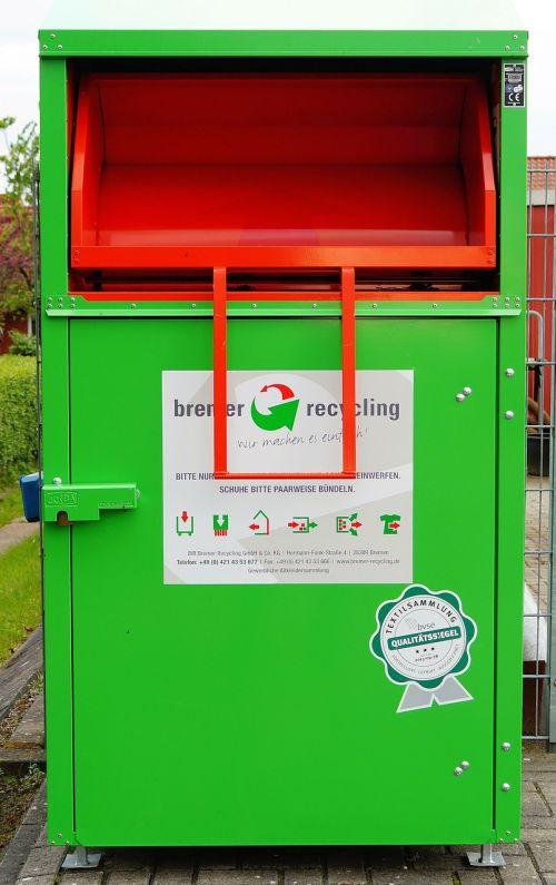 recycling box metal shoes
