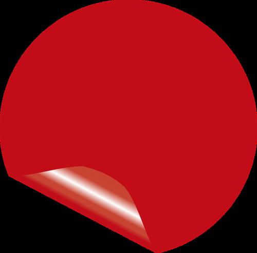 red info sticker