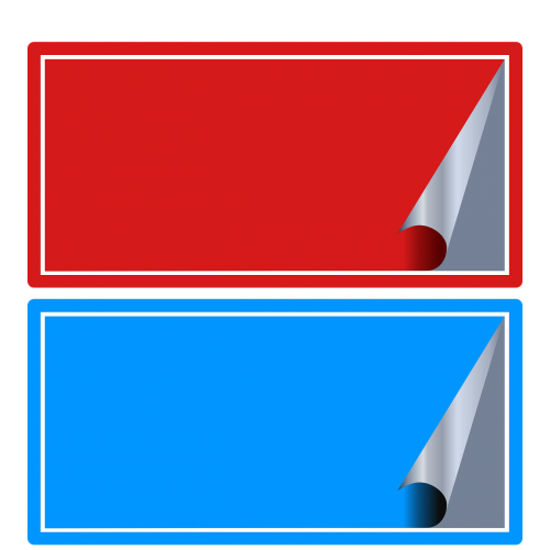 red blue stickers