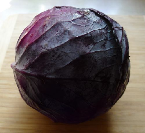 red red cabbage salad