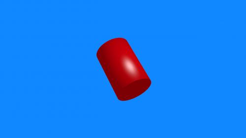 red blue shape
