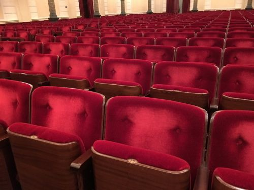 red chair concert hall