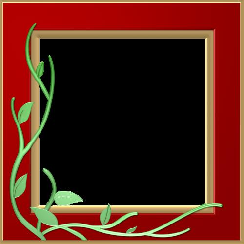 red frame border