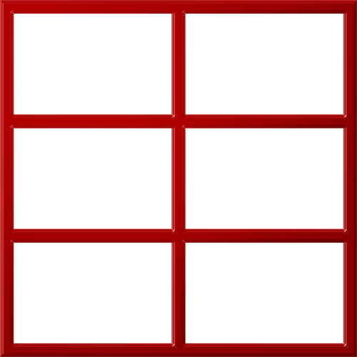 red frame window