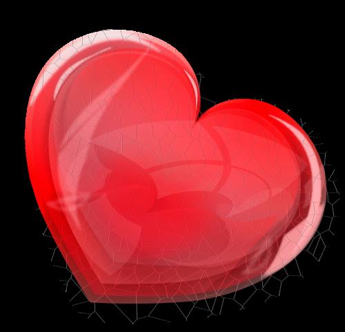 red broken heart heart