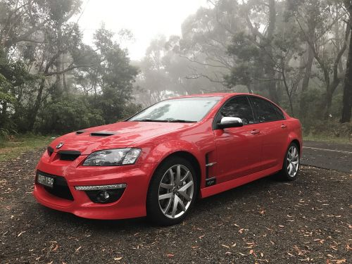 red car holden