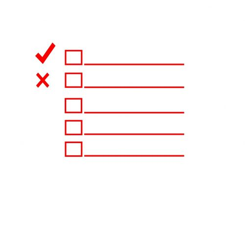 red checklist check