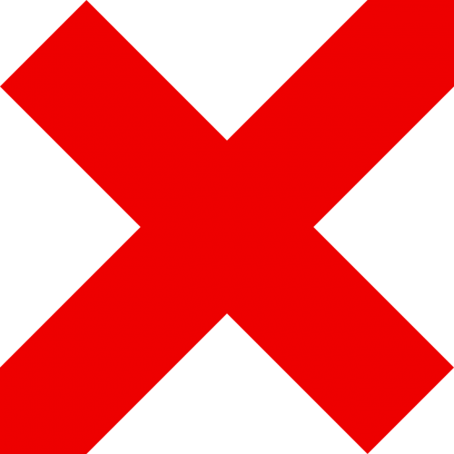 red cross mark