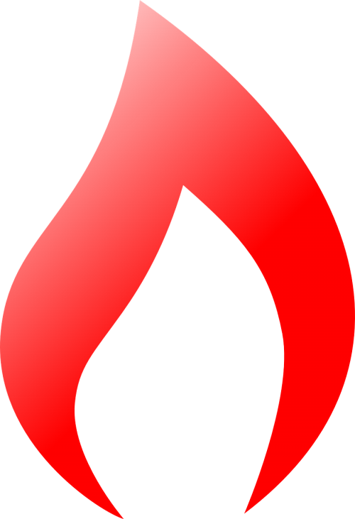 red shaded fire