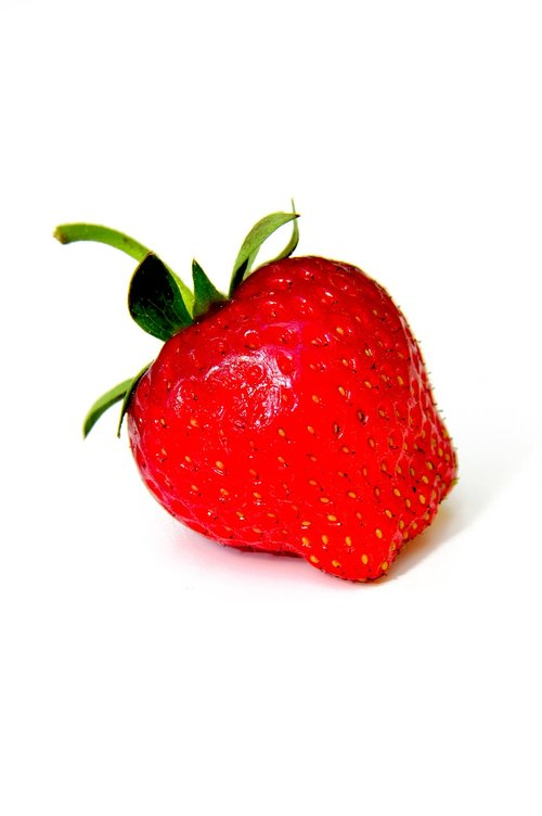 red  strawberry  mature