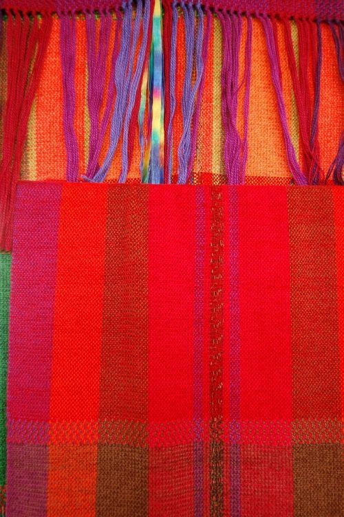 red scarf plaid