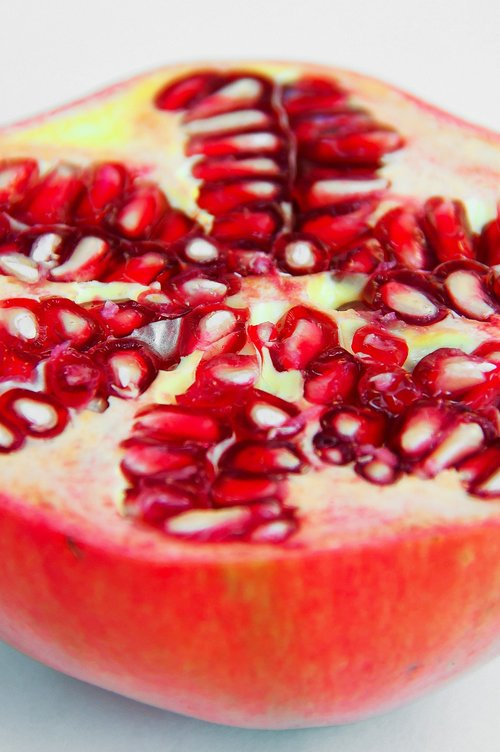 red  apple  pomegranate