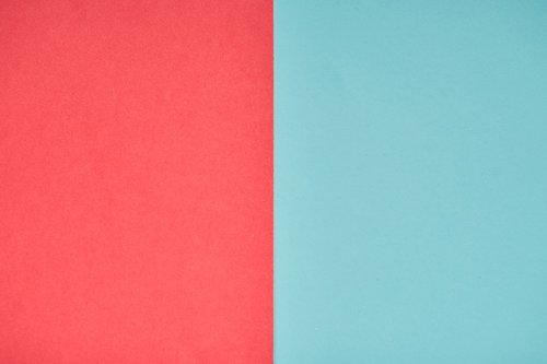red  blue  paper