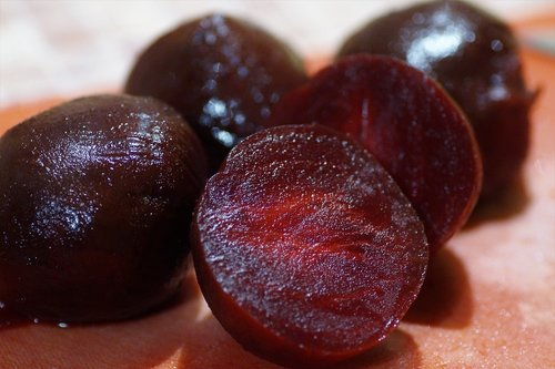red  beets  peeled