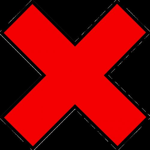 red mark cross