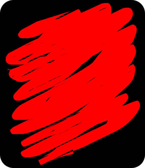 red scribble doodle