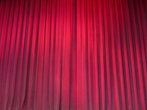 red curtains drapery