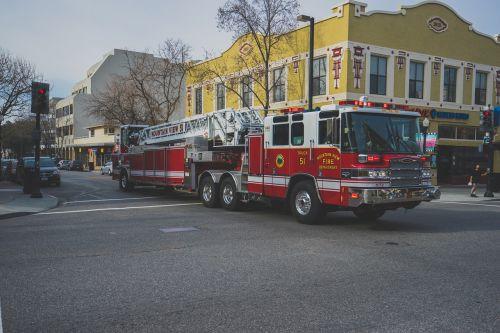 red fire truck emergency