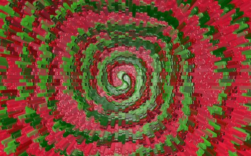 red green swirl