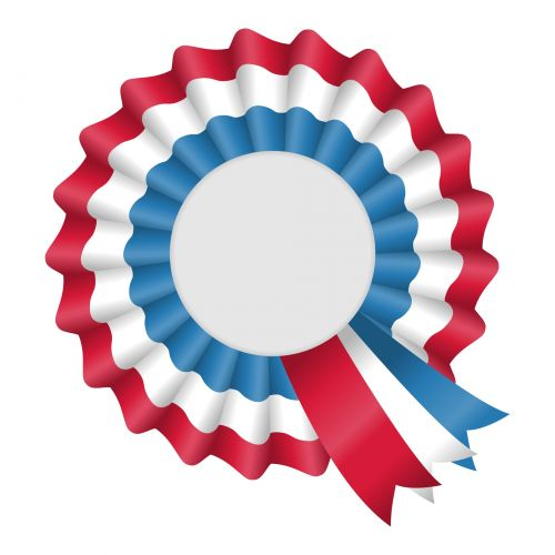 Red And Blue Rosette