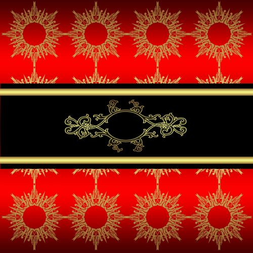 Red And Gold Effect Stylish Paper
