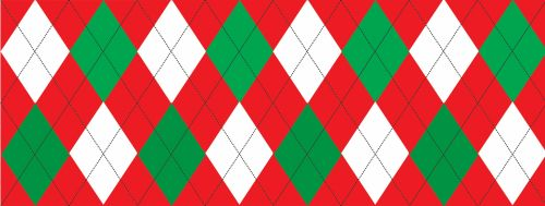 Red And Green Argyle Seamless