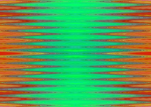 Red And Green Wave Pattern