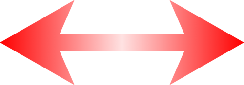 red arrow left and right special characters
