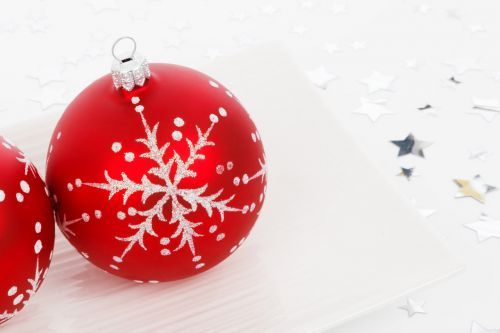 Red Bauble On Plate
