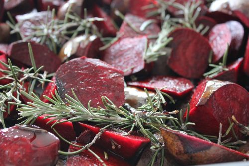 red beets rosemary foodstuffs