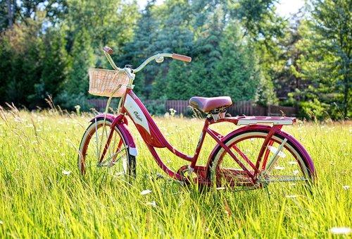 red bike  vintage bicycle  bicycle