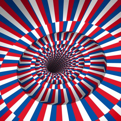 Red Blue And White Tunnel