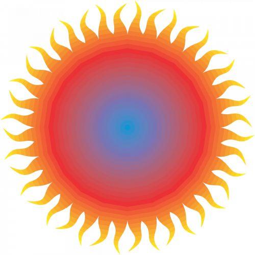 Red Blue Sun