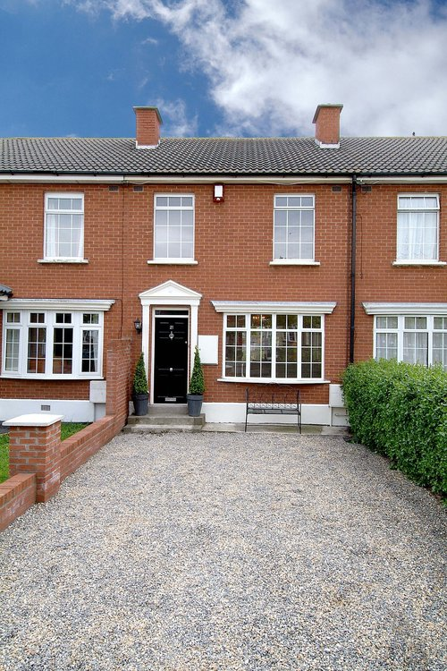 red brick  terrace  house