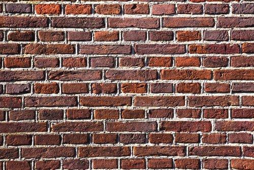 red brick wall  stone  bricks