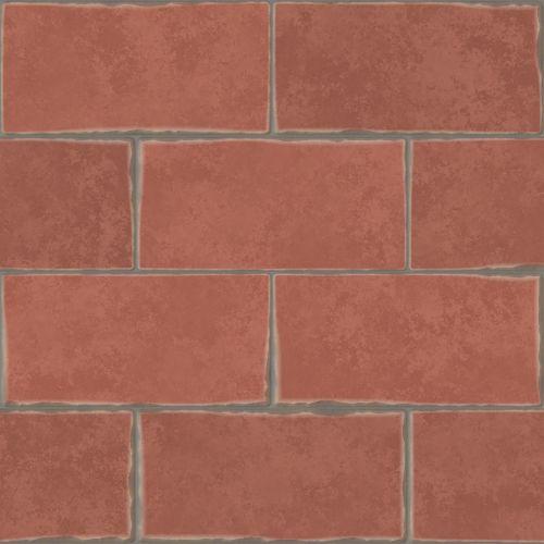 antique red bricks wall background