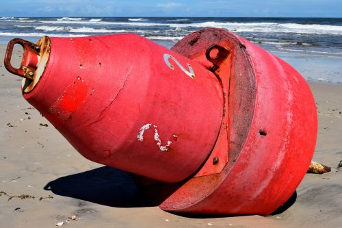Red Buoy Washed Up