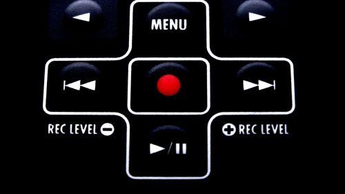 Red Button Recording Menu