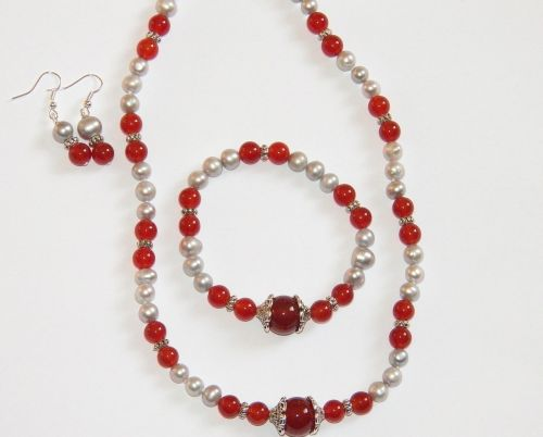 red carnelian necklace bracelet
