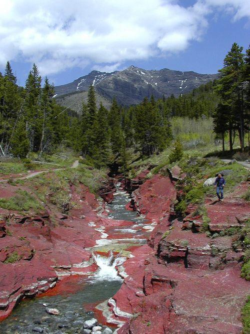 red cliffs waterton provincial park alberta