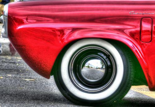 Red Dodge Champian Car