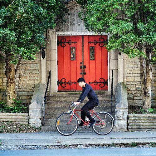 red door church door door