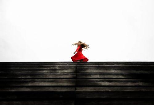 red dress spinning dress