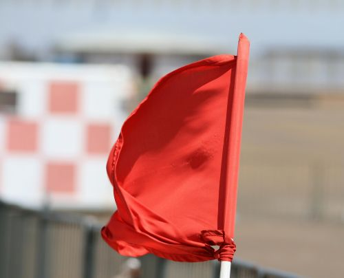 Red Flag Tied To Pole